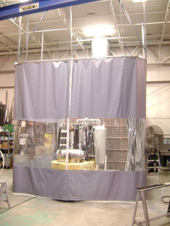 Movable Curtain Partitions Clear Fold Opening Doors To